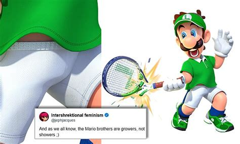Luigi Has A Penis That's 3.7inches Flaccid In Mario Tennis
