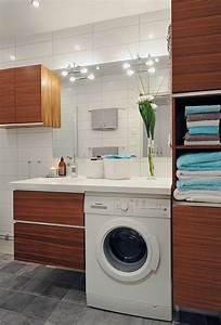Amenagement buanderie 35 exemples pour petites surfaces for Salle de bain buanderie