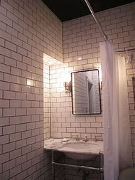 Bathroom with Black Ceiling