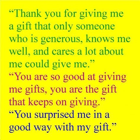thank you messages to write for a gift received