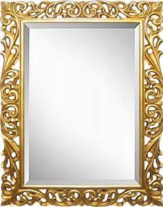 Spiegel Mit Weißem Rahmen : holz rahmen laura gold mit spiegel ~ Indierocktalk.com Haus und Dekorationen
