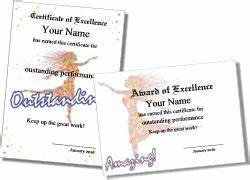 free printable participation certificates printable ballet certificate templates