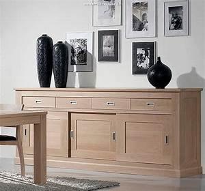Meuble Bas Salle à Manger : meubles contemporains en bois massif ~ Teatrodelosmanantiales.com Idées de Décoration