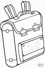 Coloring Pages Bag Drawing Printable Bookbag Taska Backpack Omalovanky Backpacks Bags Skolska Paper sketch template