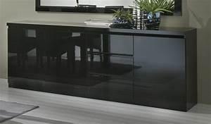 Meuble Bas Blanc Laqué : meuble bas laque blanc 12 buffet noir laque pas cher ~ Edinachiropracticcenter.com Idées de Décoration