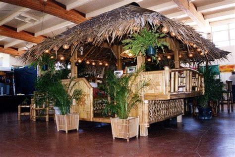 Outdoor Christmas Decor, Tropical Tiki Huts Bamboo Tiki