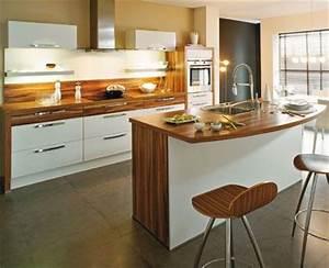 cuisine moderne blanche et bois cuisine design blanche et With cuisine blanche et bois