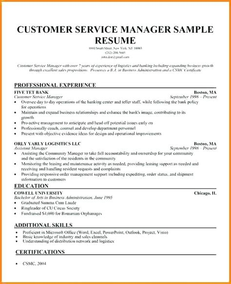 customer service lead resume 40 new resume format for