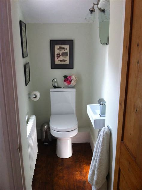 small toilet wc downstairs loo finished at last pale green antique prints vintage