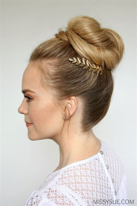 hair bun styles 1361 fantastiche immagini su hair tutorials su 4658