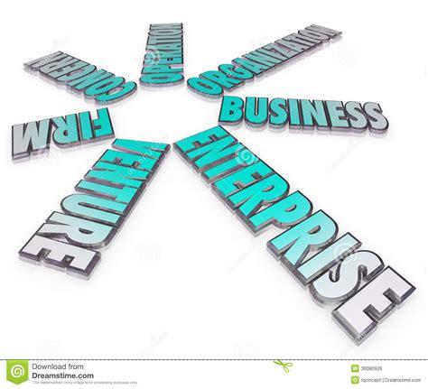 enterprise business company  words firm venture stock