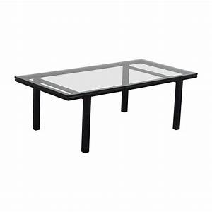 80 off rectangular glass and black coffee table tables With black glass rectangular coffee table