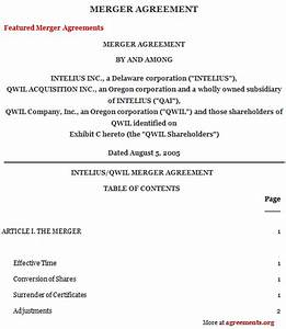 business separation agreement consulting contract With merger agreement template