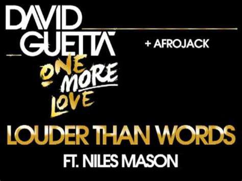 David Guetta & Afrojack  Louder Than Words Youtube