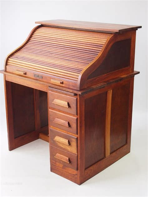 antique oak roll top desk small oak roll top desk bureau antiques atlas
