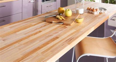 cuisine en bois frene plan de travail en bois choix et entretien côté maison