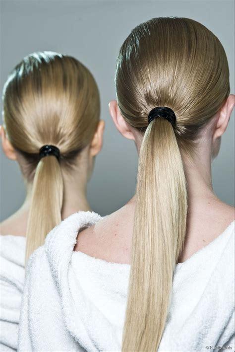 spring  long hair trend  ponytails