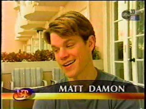 Matt Damon Entertainment Tonight ET 1998 - YouTube