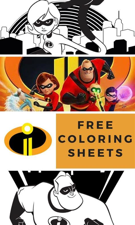 incredibles  coloring pages  activity sheets