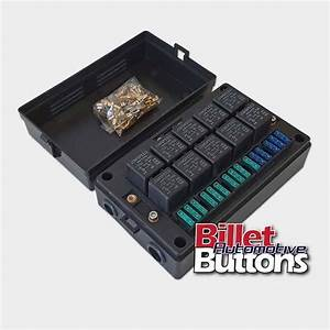 Relay    Fuse Holder Mounting Box Holds 10x Relays  Fuses