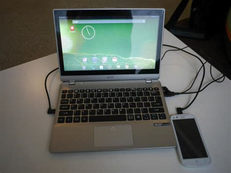 acer extend shows  phonelaptop connectivity proof