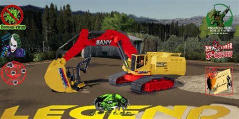 fs sany syc big excavator  simulator games mods