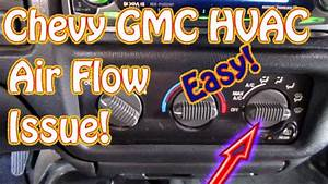 Gmc Jimmy  S10  Blazer Diy How To Diagnose Hvac Mode Control - Vent - Defrost