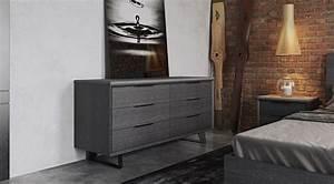 Urbano Gray Oak Contemporary Bedroom Dressers