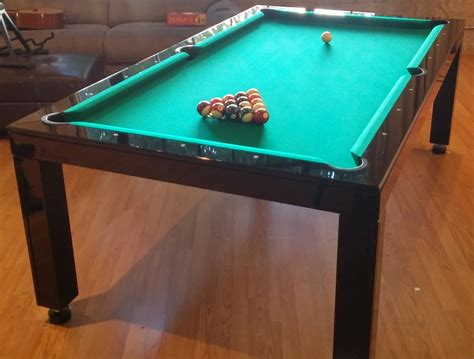space for pool table brilliance dining room pool tables by generation chic pool