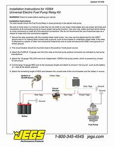 Jegs 10564 Installation Instructions