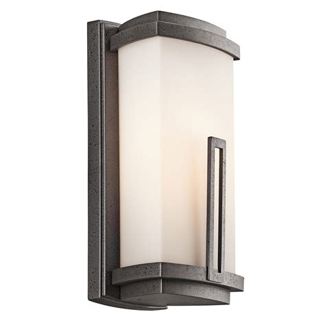 kichler 49110avi leeds outdoor wall sconce