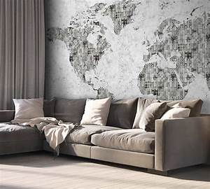 Carta Da Parati Murales : cartina mondo carta da parati camera da letto ~ Frokenaadalensverden.com Haus und Dekorationen