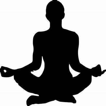 Yoga Meditation Clipart Female Silhouette Transparent Pose