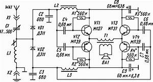 loudspeaker crystal set with voltage doubling detector With crystal set circuit