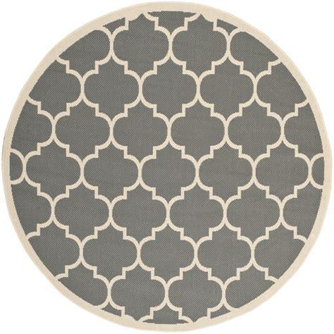 Safavieh Indoor Outdoor Rugs by Safavieh Indoor Outdoor Grey Beige Polypropylene Area Rugs