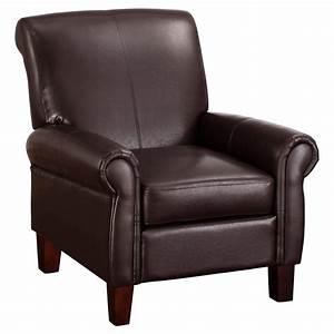Faux Leather Club Chair - Espresso - Dorel Living, Brown