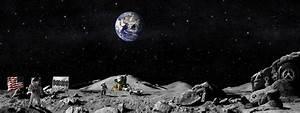 astronauts americans moon land flag HD wallpaper