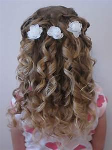 Peinados para niñas con flores Nuestros Hijos