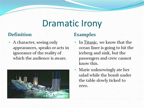 Define Rearrange The Deckchairs On The Titanic by Guide To Literary Techniques And Movements I Ppt