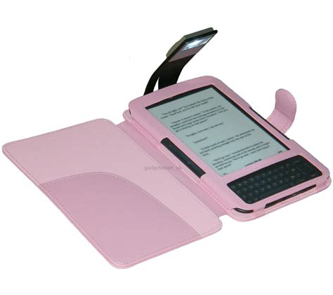 Kindle With Light by Pink Cover With Light For Kindle 3 And 3g Ebay