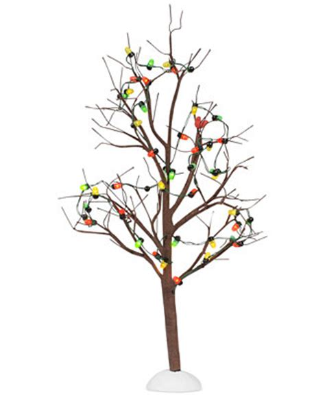 department 56 lighted christmas bare branch tree holiday