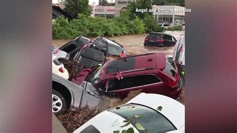 nj flood sweeps cars dealership wbff