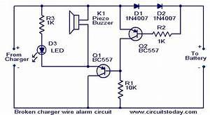 Broken Charger Wire Alarm Circuit