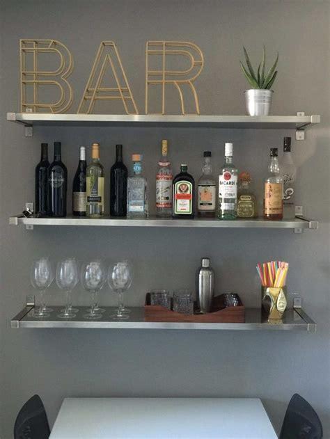 ideas  bar shelves  pinterest industrial