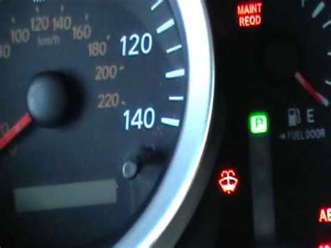 reset check engine light how to reset the maint reqd light on a toyota tacoma after