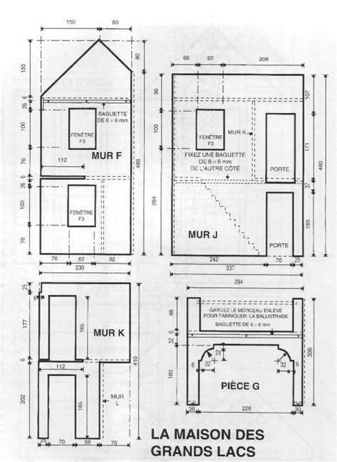 plan maison de poupee