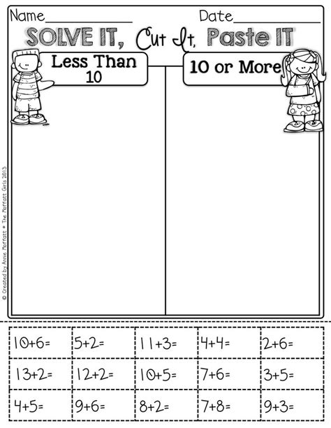 cut and paste phonics worksheets for grade