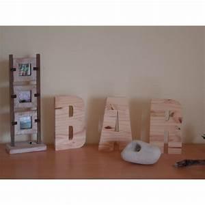 Lettre Decorative A Poser : lettre bois d corative 20 cm ~ Dailycaller-alerts.com Idées de Décoration