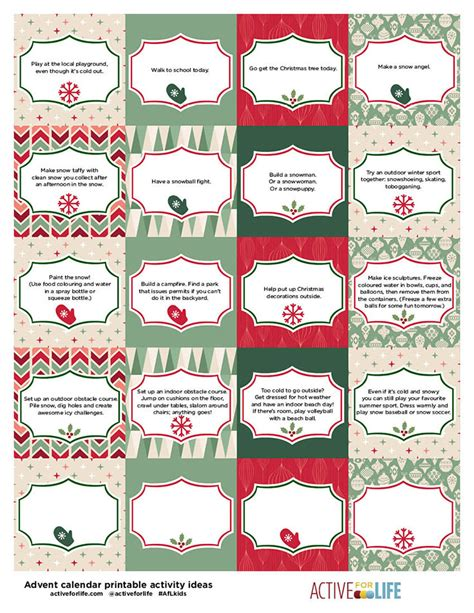 Make Your Own Advent Calendar Template by This Active Advent Calendar Will Help Keep Those