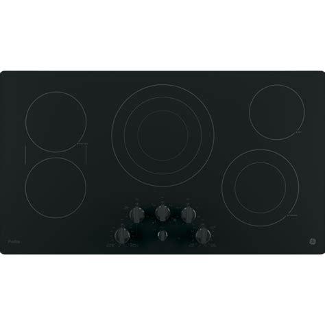 ppdjbb ge profile series  built  knob control cooktop black